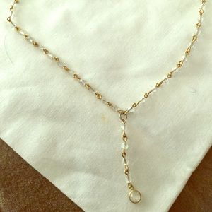 Jewelry - Necklace with gold wire/clear sm beads